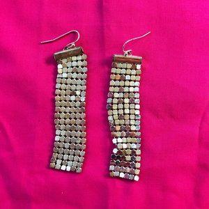 2 pair silver earrings